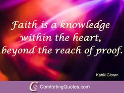 faith a knowledge 