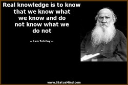 Real knowledge is to know 