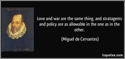 Love and war are the same thing, and stratagems 