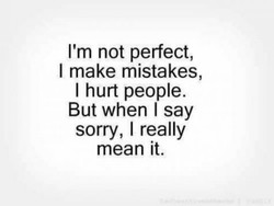 I'm not perfect, 