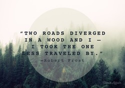 ROADS DIVERGED 