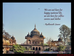 We are not here [or 