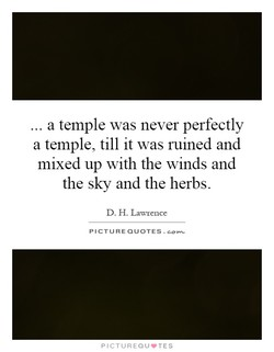 a temple was never perfectly 