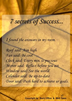 "7 secrets of Su cess"", 