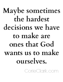 Maybe sometimes 