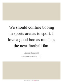 We should confine booing 