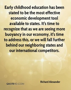 Early childhood education has been 