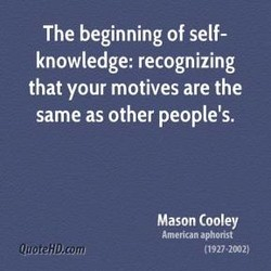 The beginning of self- 