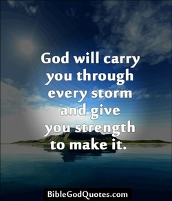 God will carry 
