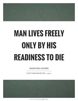MAN LIVES FREELY 
