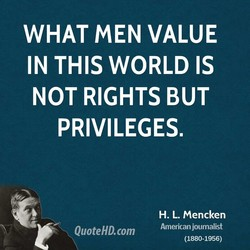 WHAT MEN VALUE 