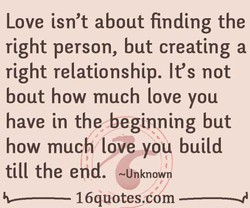 Love isn't about finding the 