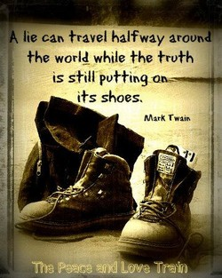 A lie can travel halfway around: 