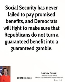 Social Security has never 