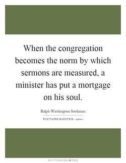 When the congregation 