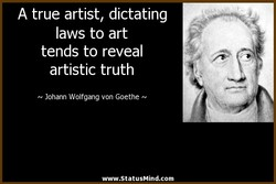 A true artist, dictating 