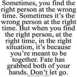 Sometimes, you find the 