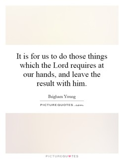 It is for us to do those things 