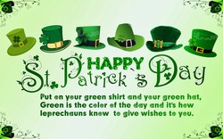 Put on your green shirt and your green hat, 