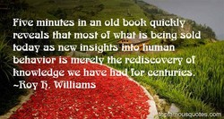 Five minutes in an old book quickly 