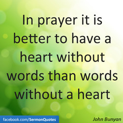 In prayer it is 