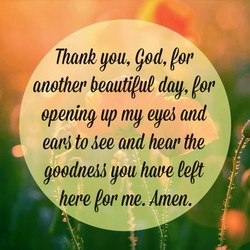Thank you, god, lor 