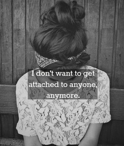 'i don't want to get 