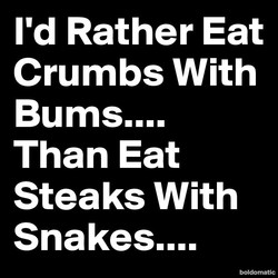 I'd Rather Eat 