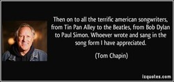 Then on to all the terrific american songwriters, 