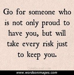 Go for someone who 