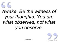 Awake. Be the witness of 