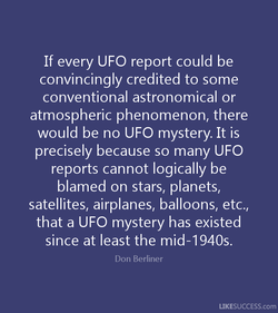If every UFO report could be 