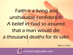 Faith is a living an 