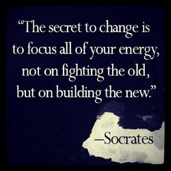 'The secret to change IS 