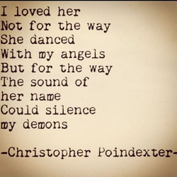 I loved her 
