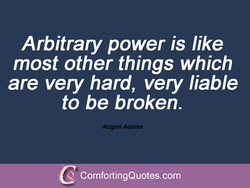 Arbitrary power is like 