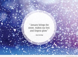 'January brings the 