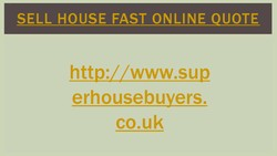 SELL HOUSE FAST ONLINE QUOTE 
