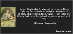 At all times, day by day, we have to continue 