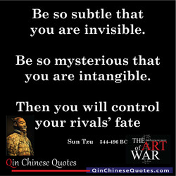 Be so subtle that 