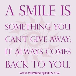 A SMILE IS 