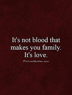 It's not blood that 