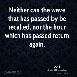 Neither can the wave 