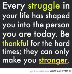 Every struggle in 