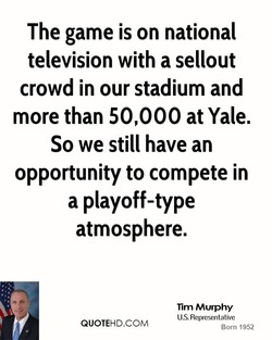 The game is on national 