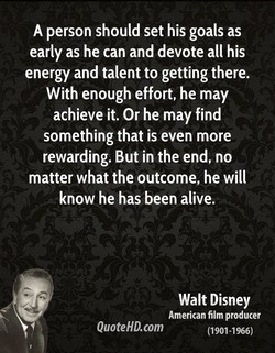 A person should set his goals as 
