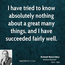 I have tried to know 