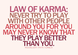 LAW OF KARMA: 