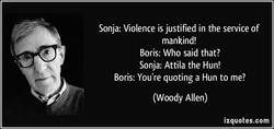 Sonja: Violence is justified in the service of 