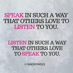 SPEAK SUCH A WAY 